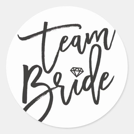 989eed9b476f7 Team Bride Diamond Bridal Party Wedding Stickers
