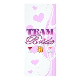 Team Bride Drinks Bridesmaids Wedding Bridal Party 10 Cm X 24 Cm Invitation Card