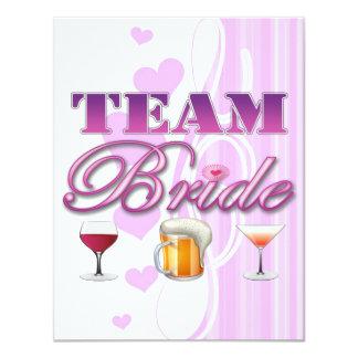 Team Bride Drinks Bridesmaids Wedding Bridal Party 11 Cm X 14 Cm Invitation Card