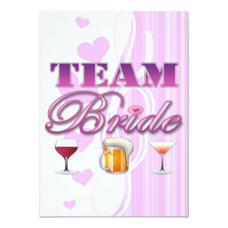 Team Bride Drinks Bridesmaids Wedding Bridal Party 11 Cm X 16 Cm Invitation Card