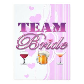 Team Bride Drinks Bridesmaids Wedding Bridal Party 17 Cm X 22 Cm Invitation Card
