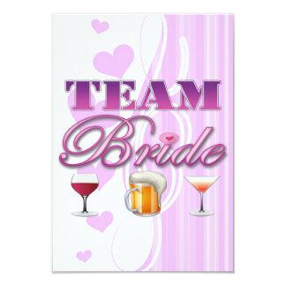 Team Bride Drinks Bridesmaids Wedding Bridal Party 9 Cm X 13 Cm Invitation Card