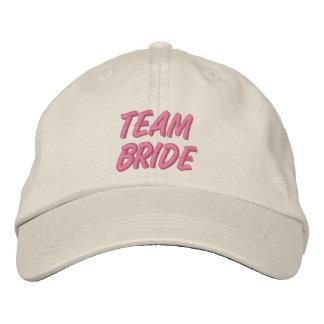 Team Bride Embroidered Baseball Cap