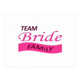TEAM BRIDE FAMILY POSTCARD