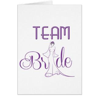 Team Bride - fancy Greeting Card