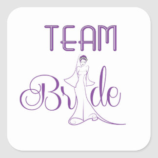 Team Bride - fancy Square Sticker