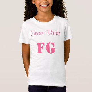 Team Bride Flower Girl Jersey Tee