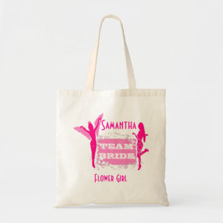 Team Bride flower girl Tote Bag