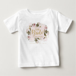 Team Bride Flower Girl Tshirt