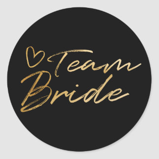 Team Bride - Gold faux foil sticker