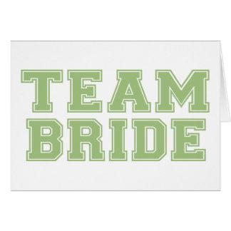 Team Bride (Green) Card
