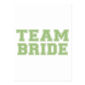 Team Bride (Green) Postcard