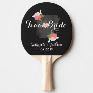 Team Bride Groom Arkansas State Chalkboard Wedding Ping Pong Paddle