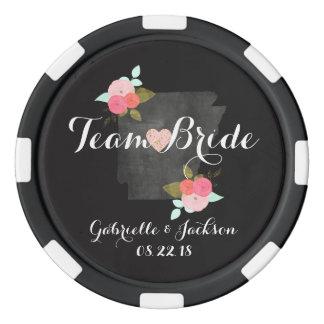 Team Bride & Groom Arkansas State Chic Wedding Poker Chips
