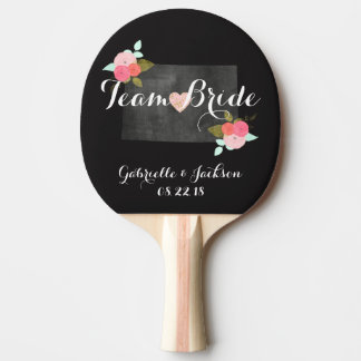 Team Bride Groom Colorado State Chic Wedding Ping Pong Paddle