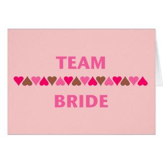 Team Bride hearts Cards