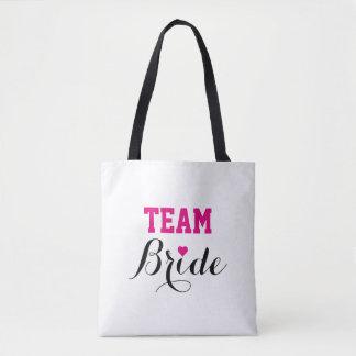 Team Bride Hot Pink Heart Tote Bag B