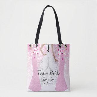 Team Bride in Pink Tote Bag