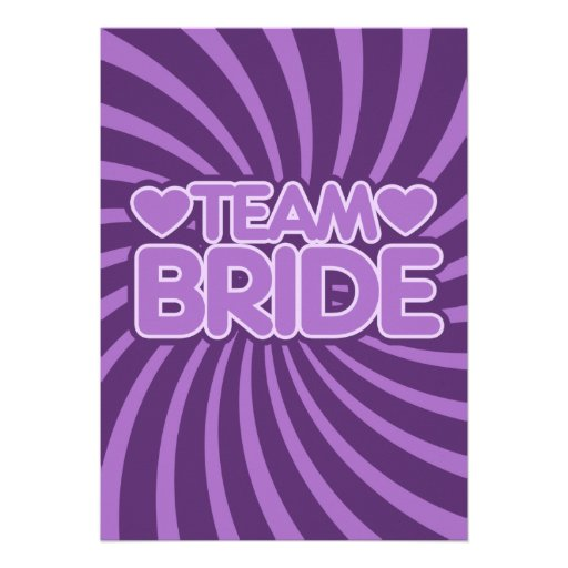 Team Bride Personalized Announcements