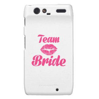 Team Bride kiss Motorola Droid RAZR Case