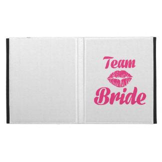 Team Bride kiss iPad Case