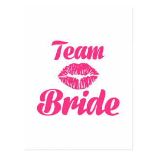 Team Bride kiss Postcard