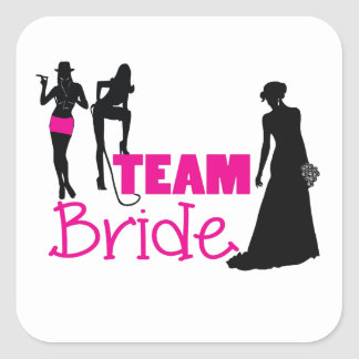 Team Bride - maid of honour Square Sticker