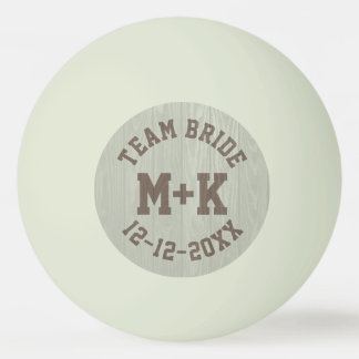 Team Bride Monogram Wedding Ping Pong Ball