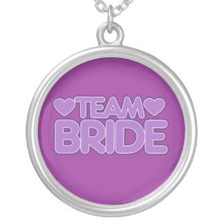 Team Bride Round Pendant Necklace