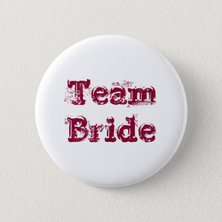 Team Bride or Groom Wedding Favour Vintage Rustic 6 Cm Round Badge