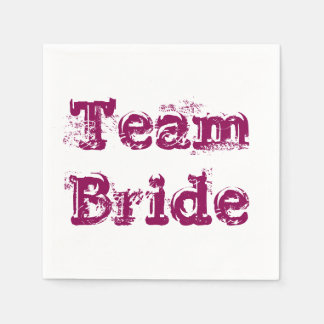 Team Bride or Groom Wedding Napkins Vintage Rustic Disposable Napkin