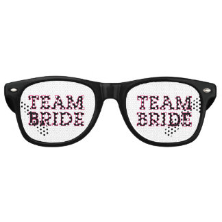 Team Bride Outline Retro Sunglasses