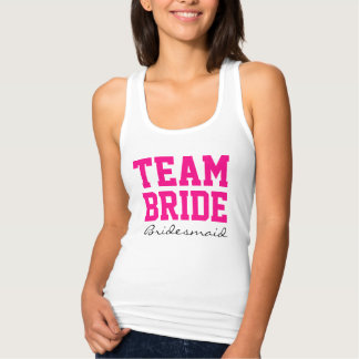 Team Bride Personalized front and back Name,Number Shirts