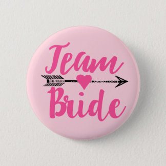 Team Bride|Pink 6 Cm Round Badge