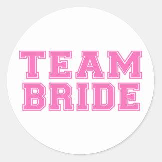 Team Bride (Pink) Classic Round Sticker