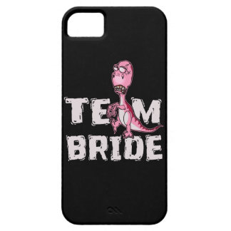 Team Bride Pink Dinosaur Bridal Shower iPhone 5 Cover