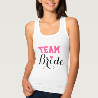 Team Bride Pink Heart Tank Top
