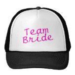 Team Bride Pink Mesh Hat