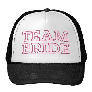 Team Bride Pink Outline Trucker Hat
