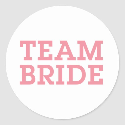 Team Bride Pink Stickers