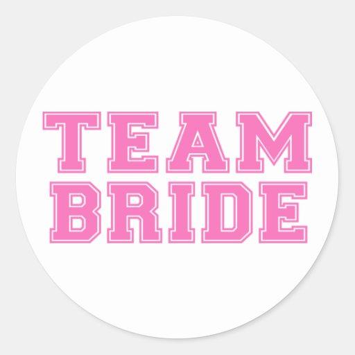 Team Bride (Pink) Stickers