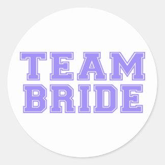 Team Bride (Purple) Round Sticker