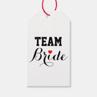Team Bride Red Heart Gift Tags