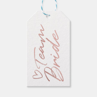 Team Bride - Rose Gold faux foil gift tag