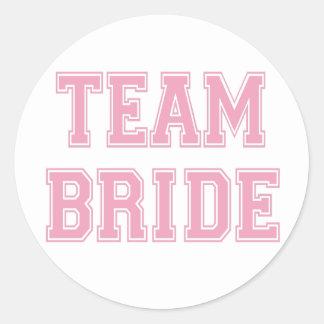 Team Bride Round Sticker