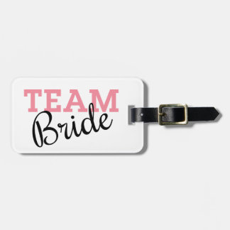Team Bride Script Luggage Tag