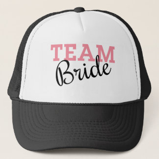Team Bride Script Trucker Hat