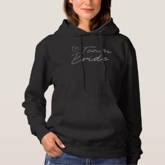 Team Bride - Silver faux foil hoodie