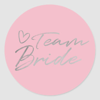 Team Bride - Silver faux foil sticker