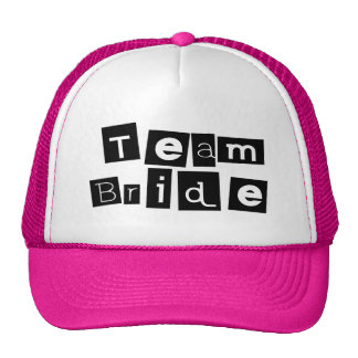 Team Bride (Sq Blk) Cap